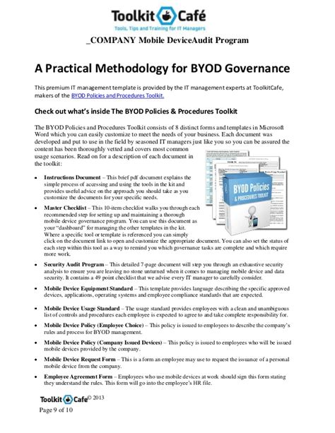 byod policy template byod security audit program