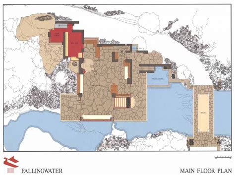 falling water floor plans falling water blueprints falling water floor plan buy a