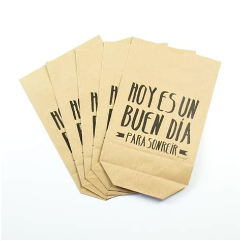 libro hoy es un buen pack de 5 bolsas kraft quot hoy es un buen d 237 a para sonre 237 r quot comprar libro en fnac es