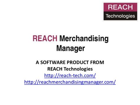 Merchandising Manager by Reach Merchandising Manager
