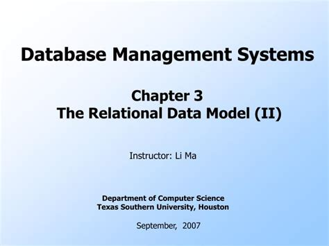 chp 3 the business of product management ppt database management systems chapter 3 the relational