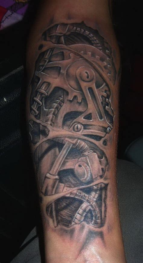 gears tattoo designs biomechanical tattoos and designs page 218