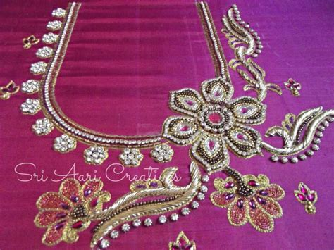 design patterns for embroidery zardosi work 2009 advance aari embroidery designer courses saidapet in