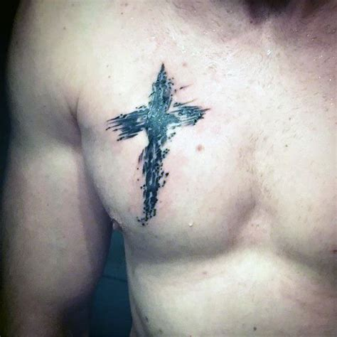 small cross tattoo for men cross chest tattoos designs ideas and meaning tattoos