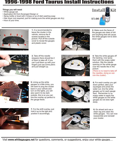 service manual instruction for a 1999 ford taurus instrument cluster how to open 2004 ford