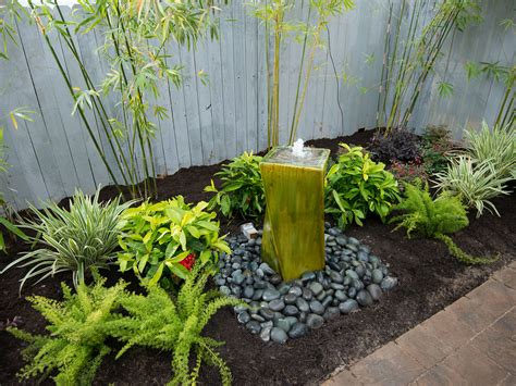 Water Garden Features Ideas Small Garden Deck With Water Feature Savwi