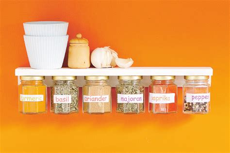 build a floating spice jar shelf australian handyman