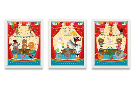 bilder kinderzimmer zirkus kinderzimmer poster lustiger zirkus miyo mori
