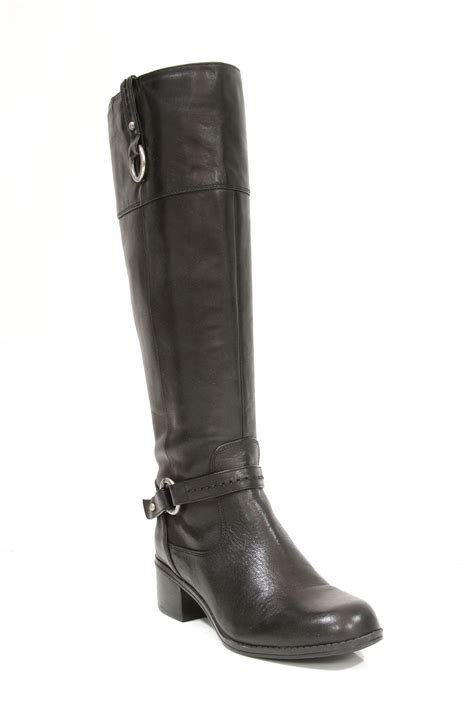 bandolino s carston wide calf leather boots in