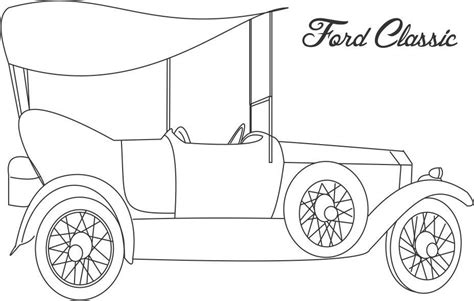 coloring pictures classic cars ford classic car coloring printable page for