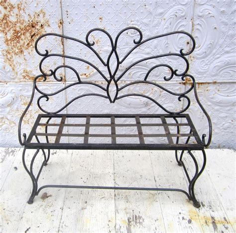 wrought iron butterfly bench wrought iron child s butterfly bench metal seating