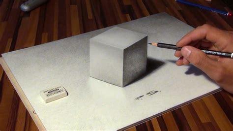 zeichnen eines wuerfels   illusion optische