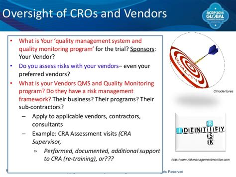 Managing Risks In Outsourced Clinical Trials 2014 Risk Management Plan Clinical Trials Template