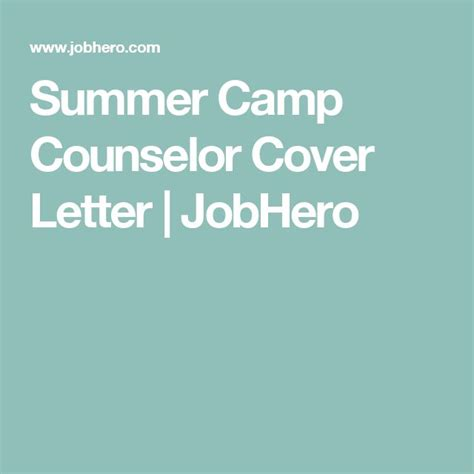 Summer Counselor Cover Letter by 1000 Ideas About C Letters On Marines Usmc And Spouse