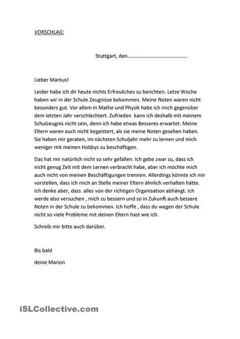 Briefe Schreiben Muster Deutschunterricht Pin Auf German