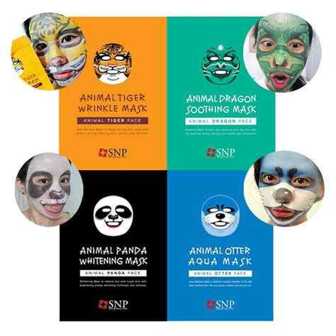 Masker Wajah Snp Animal Mask Harga Per 1 Pcs Masker Animal buy 1 for 4 panda tiger and otter snp animal