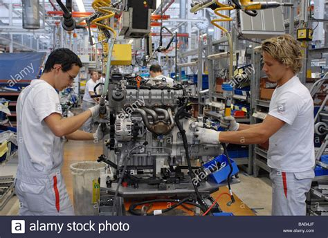Audi Germany Factory by Engine Assembly At The Audi Factory In Ingolstadt Germany
