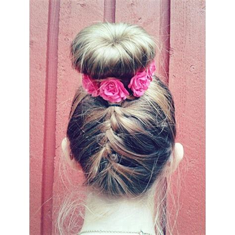 donut braid french braid to donut bun pictures photos and images for