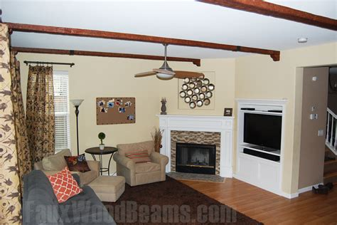 diy living room makeover diy living room makeovers with beams faux wood workshop