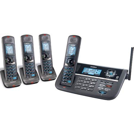 4 Phone System Uniden Dect4086 4 Dect 6 0 2 Line Cordless Phone System Walmart