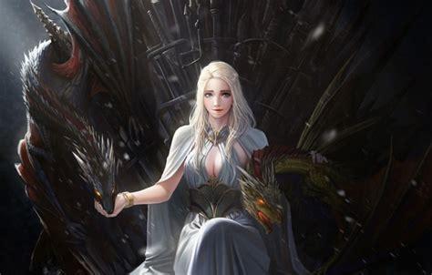 khaleesi tv series of thrones dragons swords daenerys targaryen