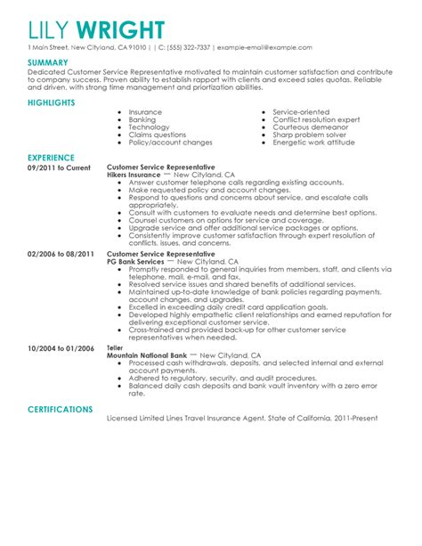 Example Resume Customer Service by Free Basic Resume Examples Resume Builder