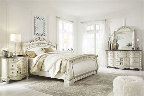 bedroom furniture discounts ashley north shore 6pc sleigh bedroom set sale cassimore north shore pearl silver sleigh bedroom set from