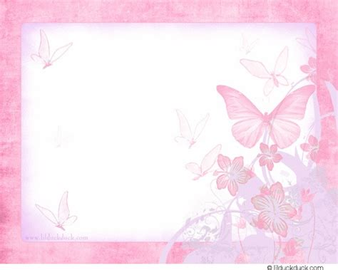 Pink Card butterfly kisses thank you card soft pink personalize