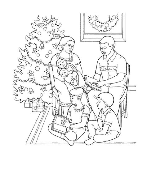 lds coloring page christmas a family at christmas coloring page for primary kids from