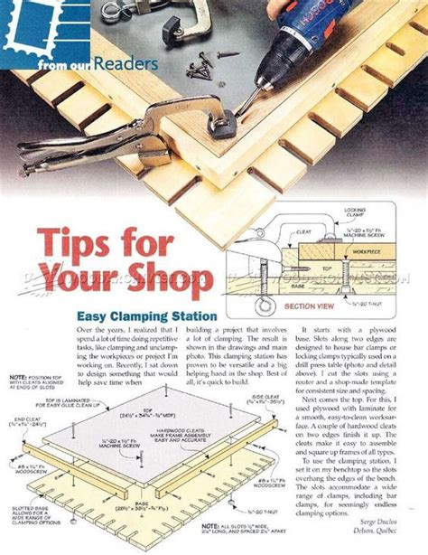 pocket hole clamping station joinery tips jigs
