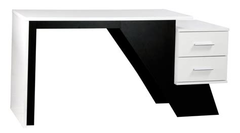 Aaron Black White Workstation Black And White Computer Desk
