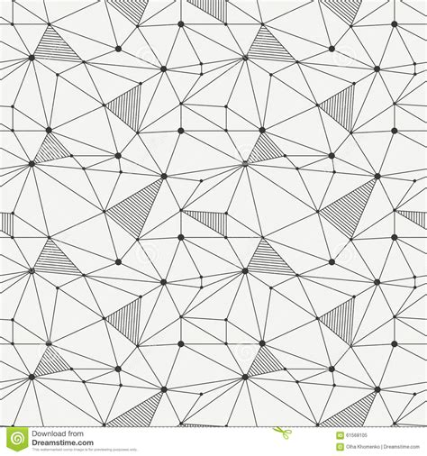 triangle pattern line geometric line hipster seamless pattern with stock vector