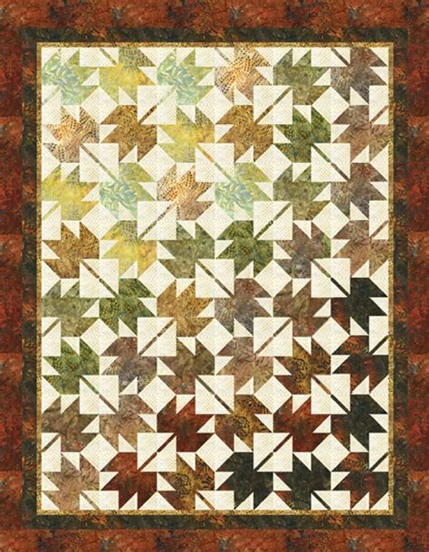 Leaf Quilt Pattern by Fall Leaves Fall Designer Pattern Robert Kaufman Fabric