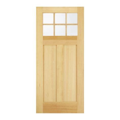 Unfinished Wood Exterior Doors Jeld Wen 32 In X 80 In 6 Lite Unfinished Wood Front Door Slab 32fir6ltslb The Home Depot