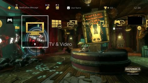 ps4 themes don t work bioshock the collection ps4 dynamic theme youtube