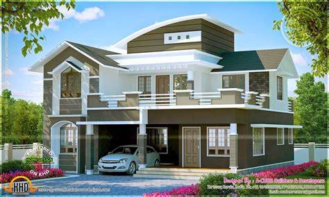 Well Designed Villa Exteriors Kerala Home Design And