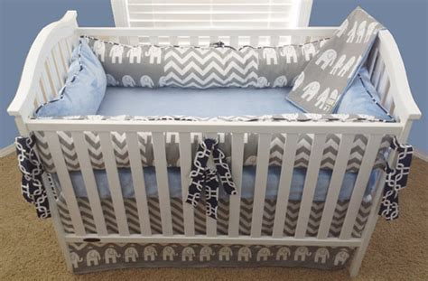 baby boy crib sets elephant crib set for boys elephant baby Modern Elephant Crib Bedding