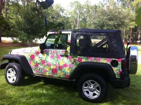 Pulitzer Jeep Purchase Used Lilly Pulitzer Wrapped Jeep Wrangler In