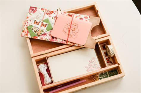 diy tutorial handmade stationery gift box set