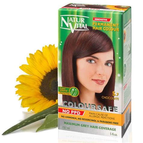 ppd free hair color ppd free hair dye naturvital coloursafe chocolate no 5 7