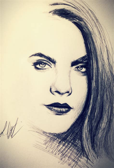 sketchbook cara cara delavigne sketch by schoerie on deviantart