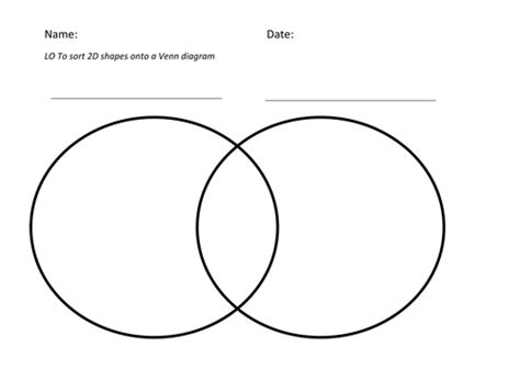 use a venn diagram to sort 2d shapes by markedout