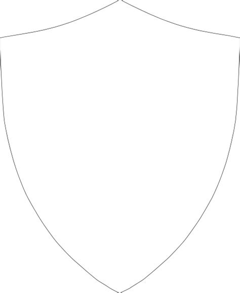 blank shield template clip art pictures to pin on