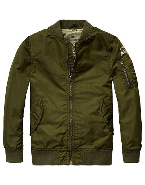 Jaket Army Look scotch shrunk jas bomber jacket army look gs1