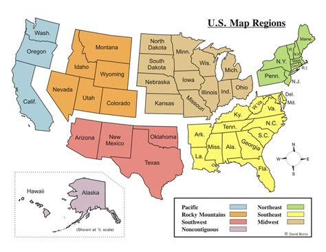 map of united states by regions united states regions mr reardon s us ii
