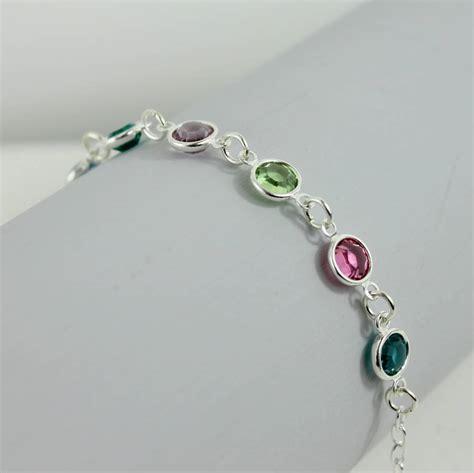 family birthstone link bracelet by by corrine smith
