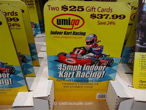 Race Track Gift Card - umigo indoor cart racing gift card