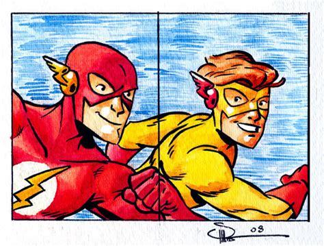 Flash Hoodie The Flash Season 2 Anime Petir Listrik flash and kid flash dc s flash fan 9732853 fanpop