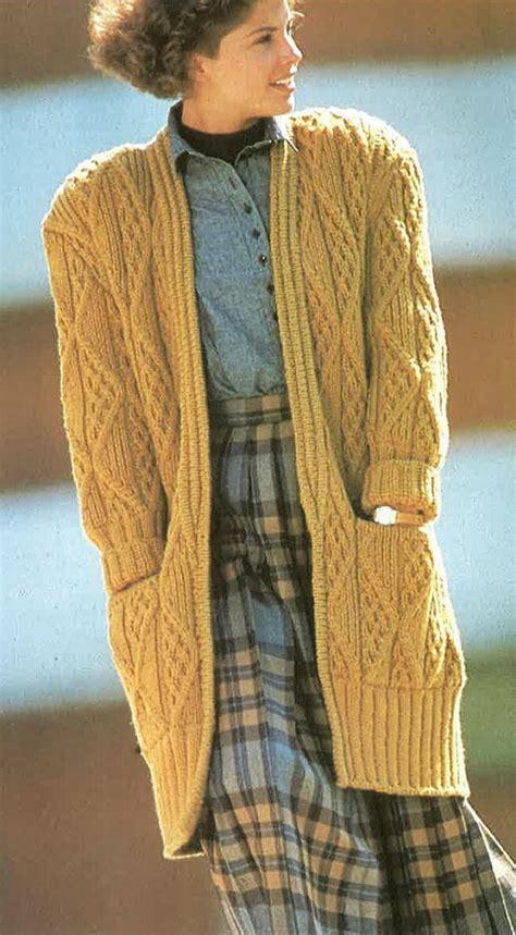 pattern cardigan long long chunky stlye knitted cardigan pattern pdf no 0290 from