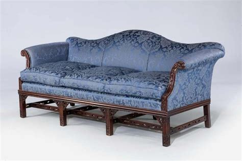 chippendale style sofa chippendale style mahogany framed camel back sofa at 1stdibs